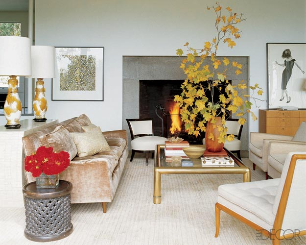 Elle Decor Modern Living Rooms: My First Little Place: Love A Velvet Sofa