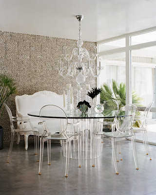 was to get 2 clear ghost chairs i love ghost chairs at a dining table