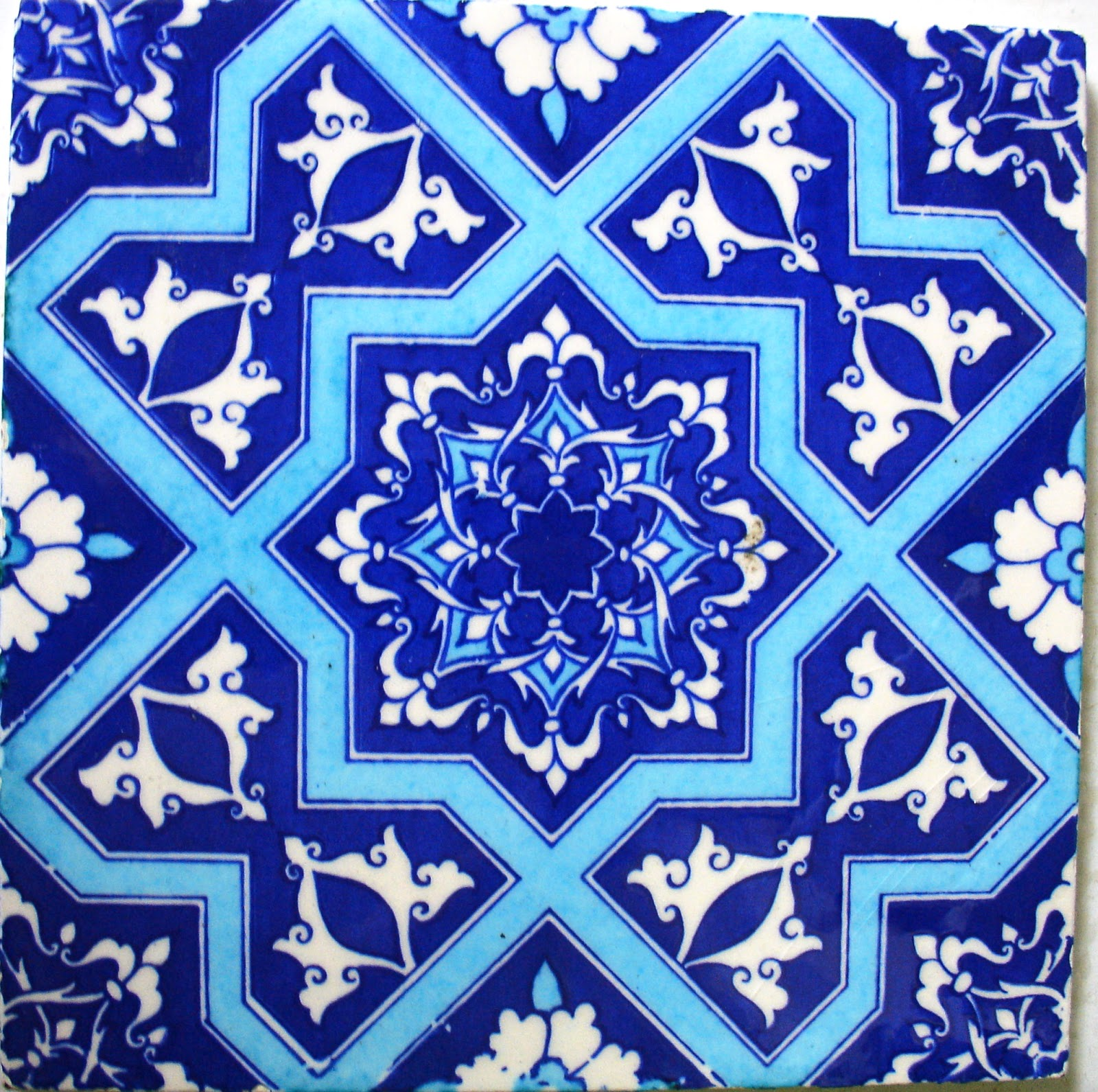 The Thrifty Decorator Painting Moroccan Tiles On A