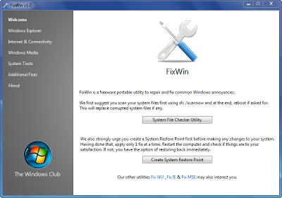 FixWin – Repara los Problemas de Windows 7 y Vista