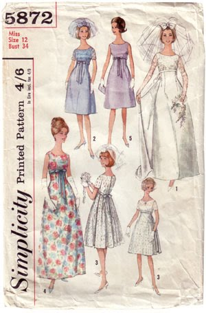 Jenn\'s blog: Vintage wedding dress patterns can be reduced down to ...