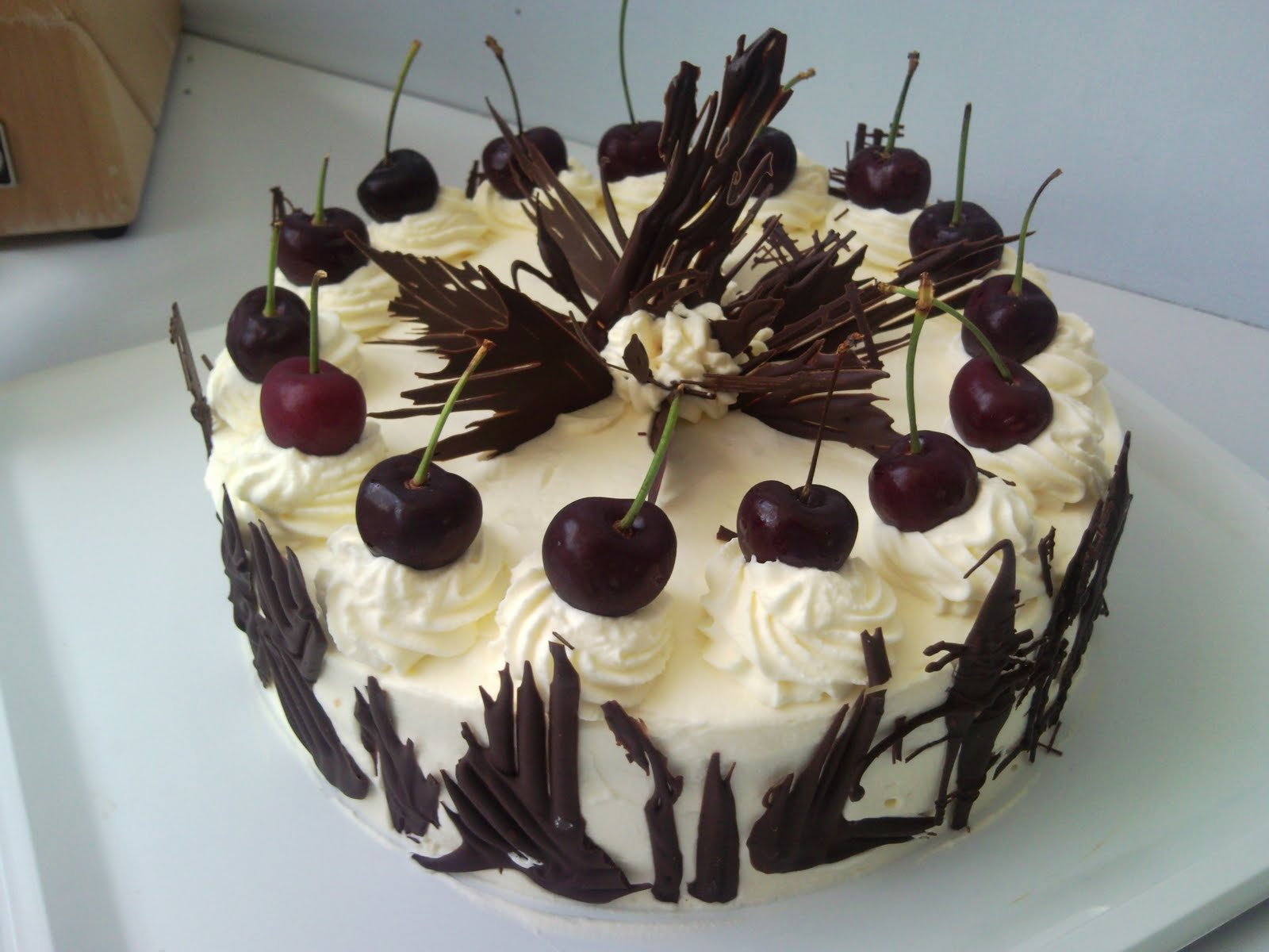 slightly different interpretation of a Black Forest Cake. Instead of ...