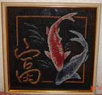 Вышивка на черной канве панна