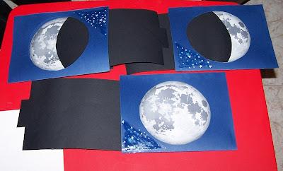 La Cartulina Negra Y Ha Visto Que La Luna Se Esta Descubriendo Que