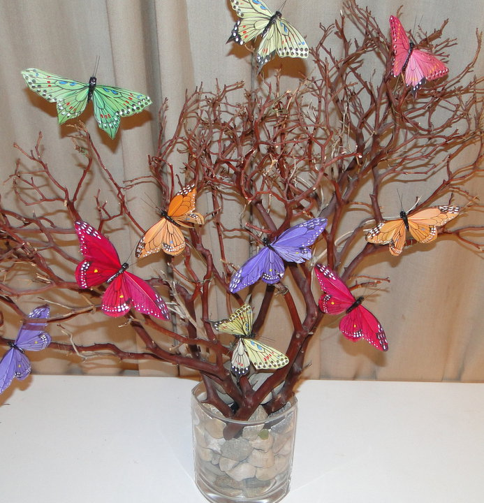 Madeline lewis butterfly centerpiece