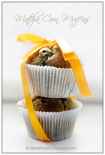 Matcha Muffins, Corn Muffins Matcha, Green Tea Muffins, Green Tea Corn Muffins