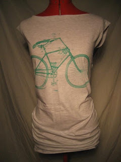 Bicycle Print Tshirt Dress