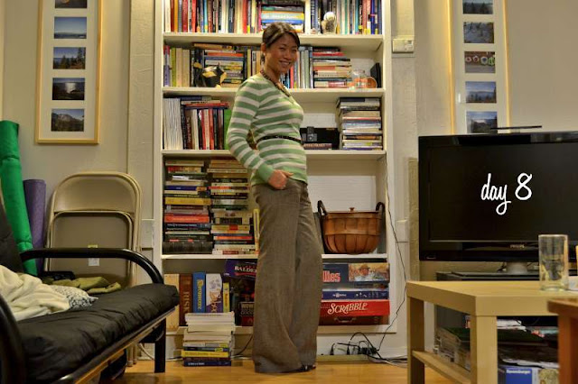office fashion blogger the new professional angeline evans old navy sweater tweed trousers enzo angiolini peep-toe pumps swapped belt american eagle necklace