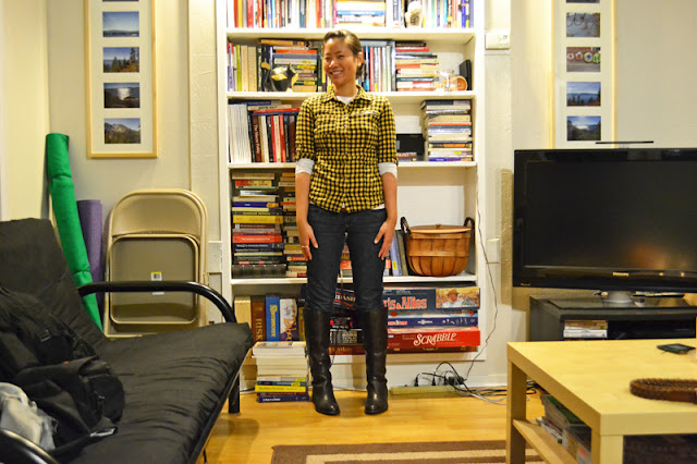 office fashion blogger angeline evans the new professional ross plaid flannel shirt casual friday