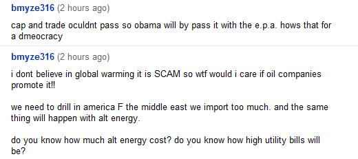 i dont believe in global warming it is SCAM so wtf would i care if oil companies promote it!!  we need to drill in america F the middle east we import too much. and the same thing will happen with alt energy.  do you know how much alt energy cost? do you know how high utility bills will be?
