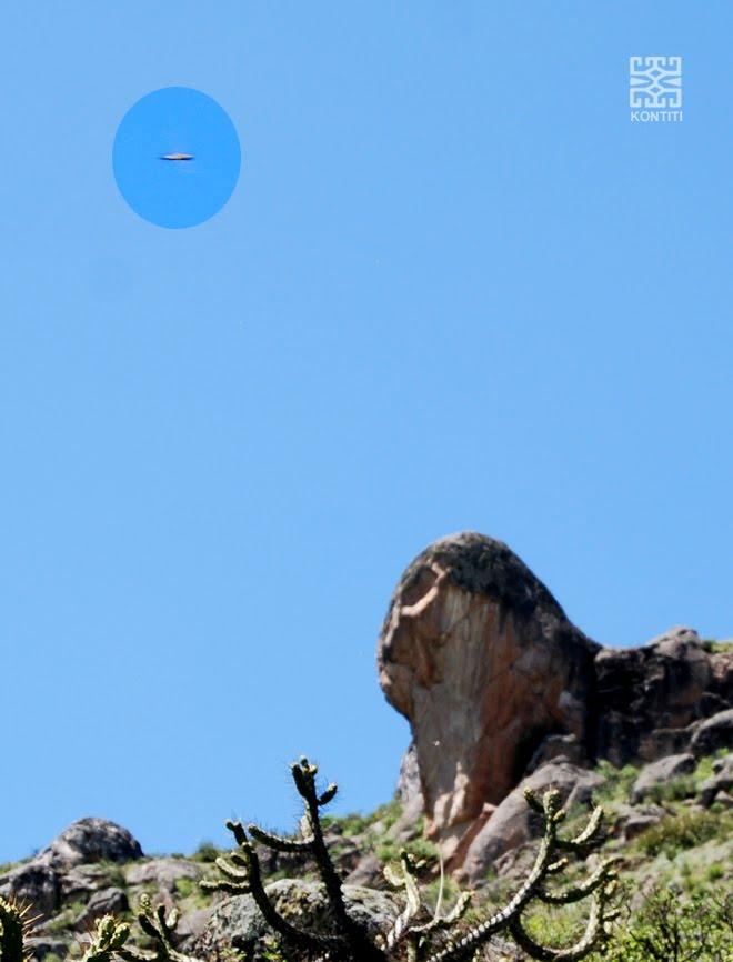 Ovni observado por cabeza de mallqu en Markahuasi