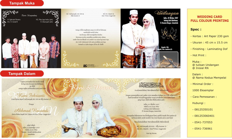 kami menyediakan bermacam design dan model untuk undangan pernikahan ...