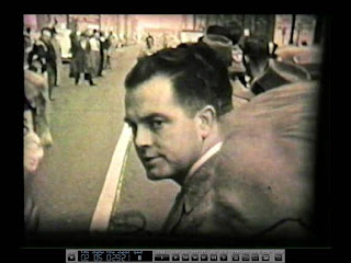 Jack Pyrah at finish line of Camden Y run in 1956