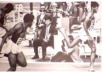 Freeman, Evans, James 400 finish in 1968 Olympics, Mexico City