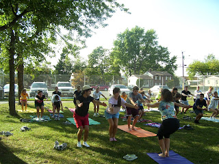 Gloucester Catholic Cross Country team concludes practice with Yoga Instructor Laura Bonanni