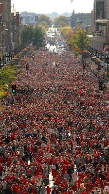 Close to 3 million people line Broad Street