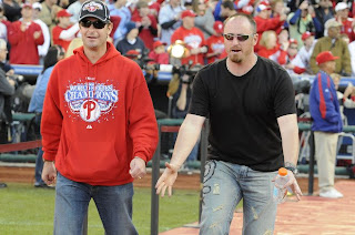 Phils Pitchers Jamie Moyer and Brett Myers