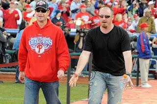 Phils Pitchers Jamie Moyer and Brett Myers