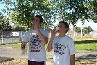 Gloucester Catholic cross country team enjoys pickle juice before a recent practice