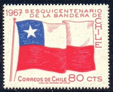 Flags Stamps And Philately Chile Stamp