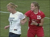 New Mexico soccer player suspended video - Elizabeth Lambert