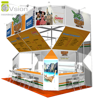 Exhibition System Booth Design for COSMO