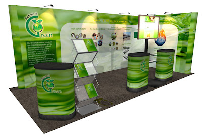 Pop Up Portable Displays Booth Design