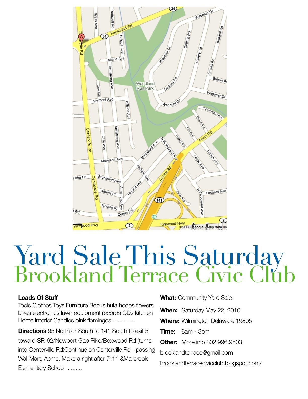 community yard sale saturday