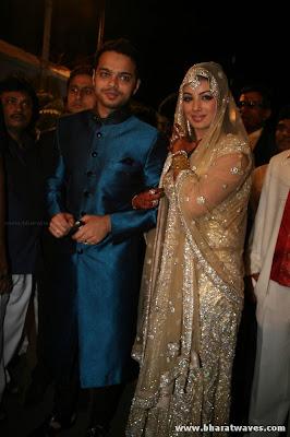 Beautiful Ayesha Takia Wedding Reception Pictures Hot Bollywood Actress