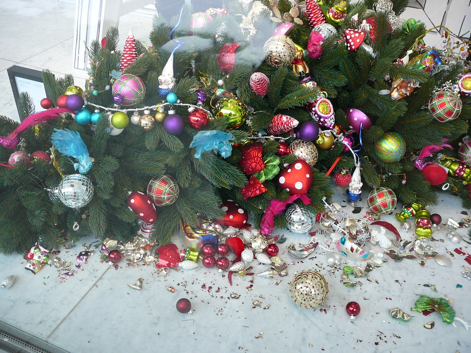 Weihnachtsdeko aus Glas