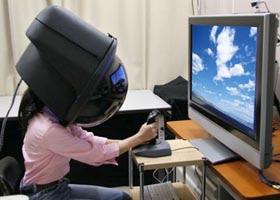 Hitachi 3-D helmet