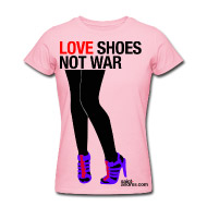 tshirt, high heels, shoes, love