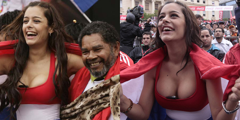 larissa riquelme, paraguay supporter