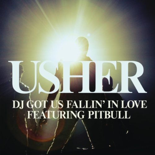 usher, pitbull, single cover, dj got us fallin in love