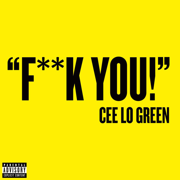 cee lo green, f**k you, single cover, copertina
