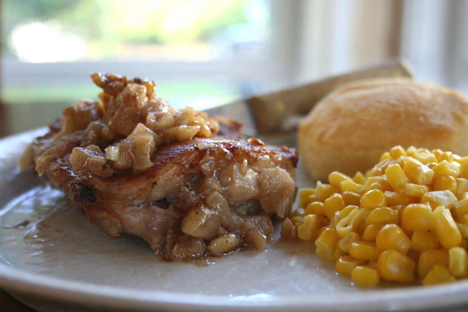 Cookies with Boys: Apple Stuffed Pork Chops