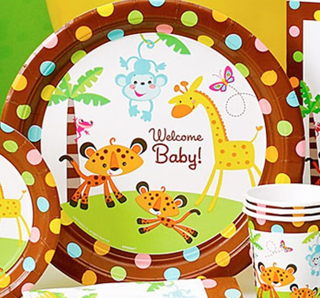 Marvelous Fisher Price Jungle Theme Baby Shower Part - 11: Mollyu0027s Fisher Price Rainforest Baby Shower Cake (click Photos To Enlarge).