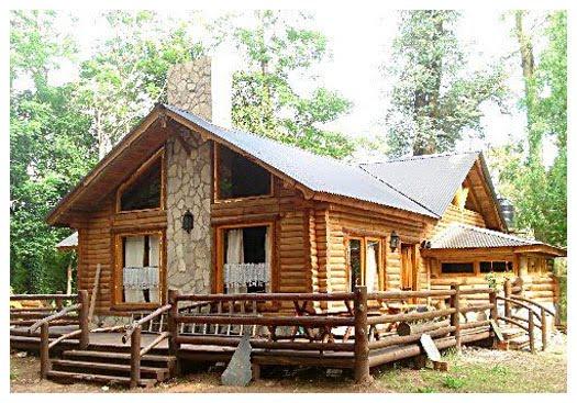 Arte en casa by nauma caba as de troncos de madera - Casas de madera de troncos ...
