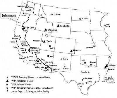 Internment Camps For Japanese Americans - Map-of-japanese-internment-camps-in-us