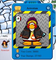 este es mi pinguino AEwotan en ICPv3 mayor mente en ICPv3 me meto mas que en club penguin normal