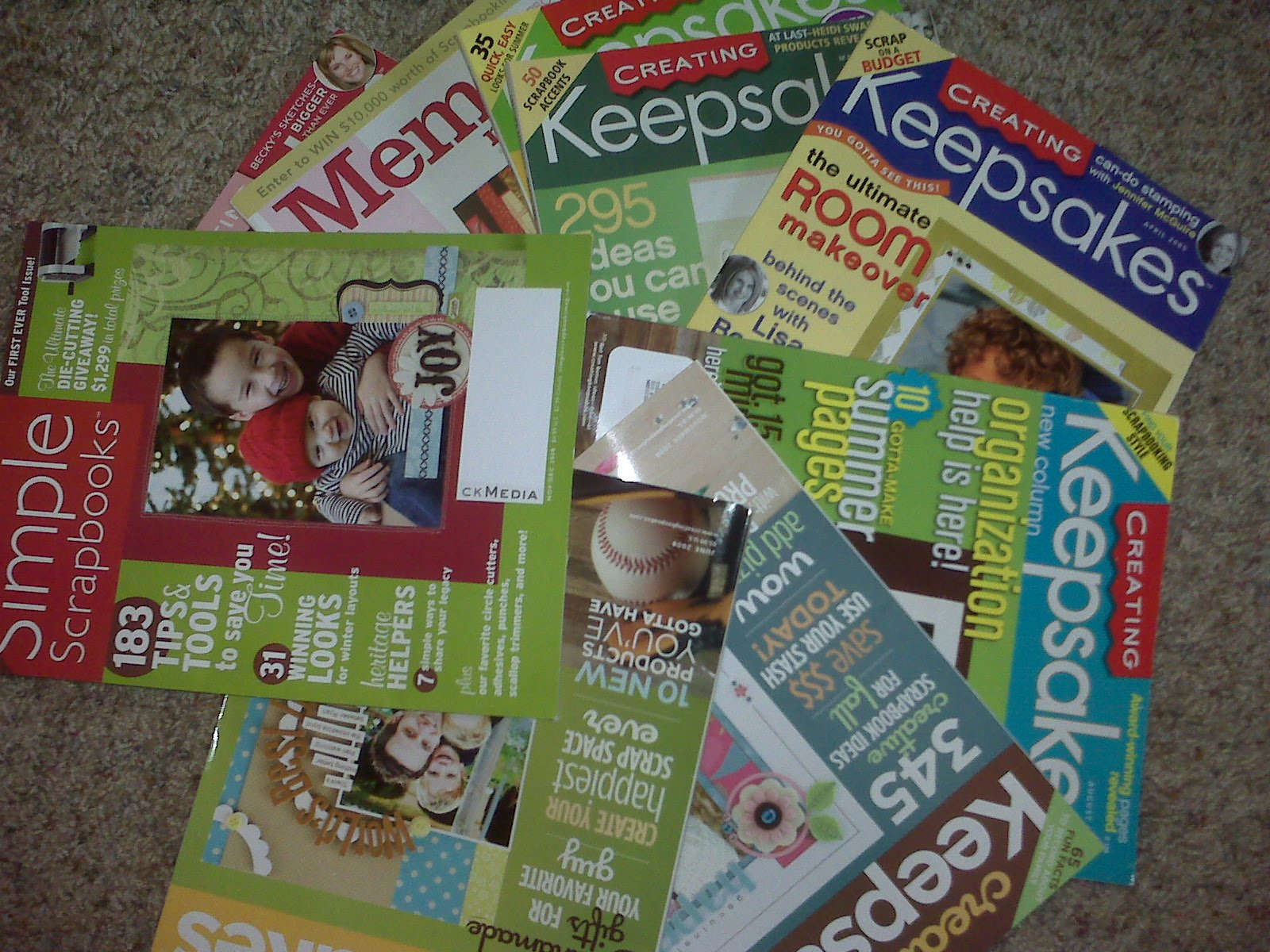 How to scrapbook magazines - I Was Cleaning Out My Storage Closet The Other Month And I Found A Tote Full Of Scrapbooking Magazines That I Have Kept Through The Years Memory Makers
