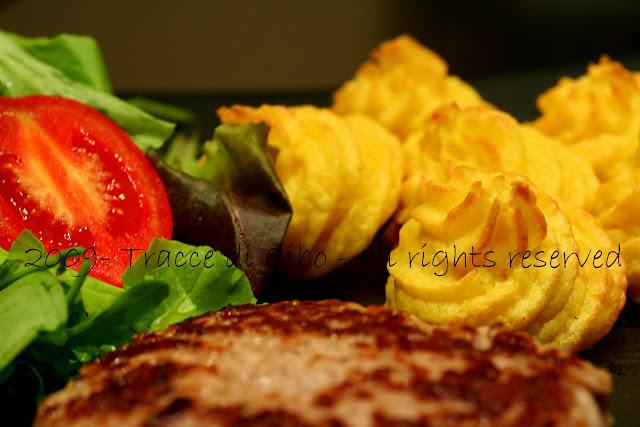 patate duchessa, purè, patate, contorno