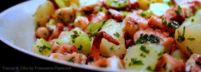 polpo, polipo, insalata, patate,octopus, pressure cooker
