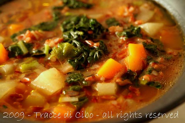 riso rosso camargue,cavolo nero, minestra,