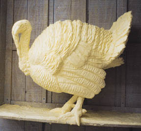 don't know how they made this butter stand with the turkey's heavy ...