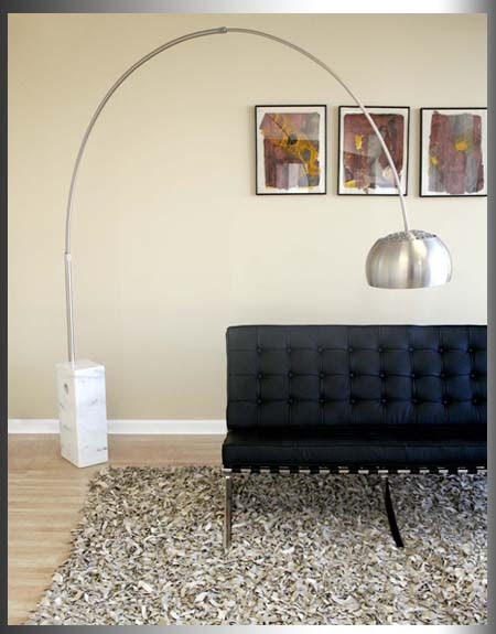 Interior Design Arco Castiglio Italian Lamp Retro Arc