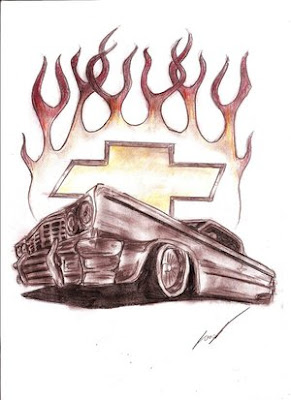 Car Art Drawings
