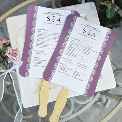 Wedding Fans Programs on Blog   Wedding Favor Ideas   Wedding Favors  Diy Designer Fan Program