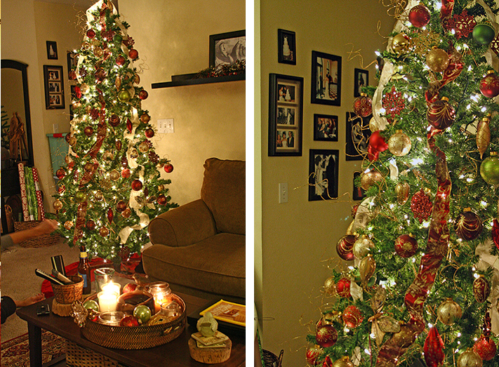 Christmas Tree Decorating With Ribbon Michelle Lynne: how do you decorate a christmas tree