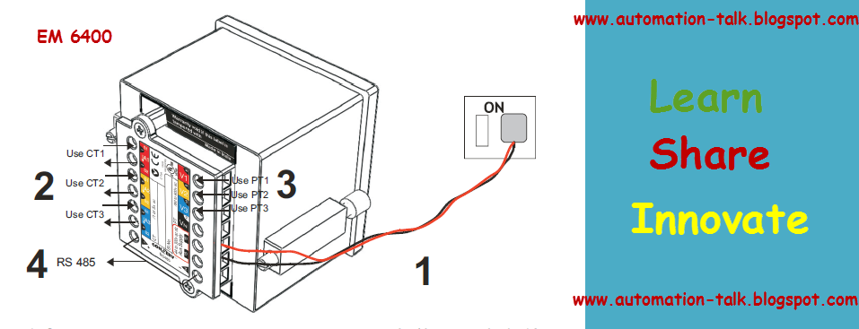 conzerv energy meter em6436 modbus communication and